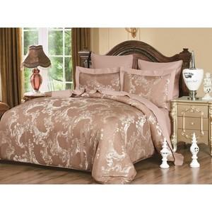 Комплект постельного белья Karna Евро, сатин-жаккард, Nora (5046) все цены