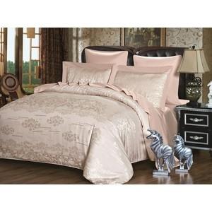 Комплект постельного белья Karna Евро, сатин-жаккард, Karina (5047) все цены