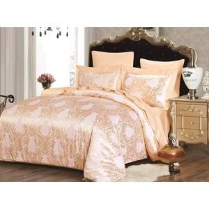 Комплект постельного белья Karna Евро, сатин-жаккард, Fanetta (5054) застежка salmo 5054 00l скользящая 10шт