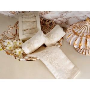 Набор салфеток 3 штуки Irya хлопок с гипюром Sweet 30x50 см молочный (2469) цена