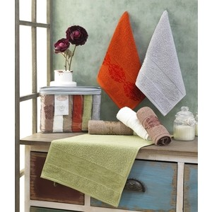 Набор салфеток 6 штук Karna махровые жаккард Rebeka 30x50 см (2656/CHAR001)