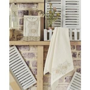 Полотенце Irya Fleur с гипюром 50x90 см (2502/CHAR002) полотенце для рук и лица irya fleur 50 90 см розовый