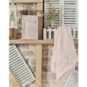 Полотенце Irya Fleur с гипюром 50x90 см (2502/CHAR003) полотенце для рук и лица irya fleur 50 90 см розовый