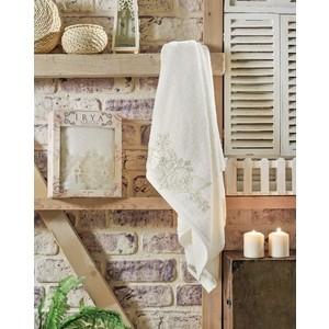 Полотенце Irya Fleur с гипюром 70x130 см (2508/CHAR001) bathroom shelves brass 2 tier towel bars rack bath holder retro carved pattern wall mounted bathroom accessories shelf fe 8701
