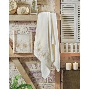 Полотенце Irya Fleur с гипюром 70x130 см (2508/CHAR003) полотенце для рук и лица irya fleur 50 90 см розовый