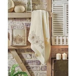 Полотенце Irya Fleur с гипюром 70x130 см (2508/CHAR002) полотенце для рук и лица irya fleur 50 90 см розовый