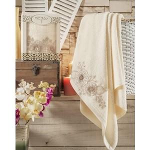 Полотенце Irya Fleur с гипюром 85x150 см (2516/CHAR002) полотенце для рук и лица irya fleur 50 90 см розовый