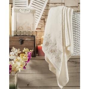 Полотенце Irya Fleur с гипюром 85x150 см (2516/CHAR003) полотенце для рук и лица irya fleur 50 90 см розовый