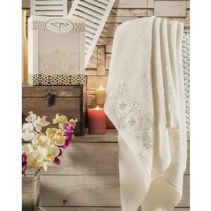 Полотенце Irya Fleur с гипюром 85x150 см (2516/CHAR001) полотенце для рук и лица irya fleur 50 90 см розовый
