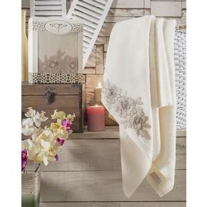 Полотенце Irya Romantic с гипюром 85x150 см (2518/CHAR001) полотенце irya delicia с гипюром 85x150 см 2515 char001