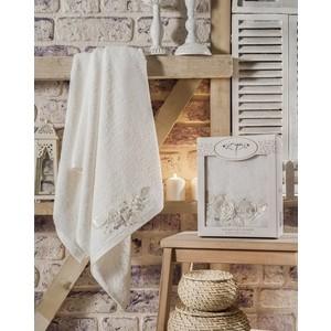 Полотенце Irya Rose с гипюром 70x140 см (2549) полотенца irya полотенце classy цвет малиновый 50х90 см
