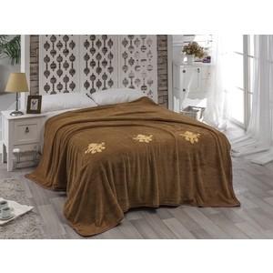 Покрывало Karna вельсофт с вышивкой Damask 200x220 см (2010/CHAR005) покрывало двуспальное karna 200 220 см голубой