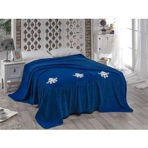 Покрывало Karna вельсофт с вышивкой Damask 200x220 см (2010/CHAR006) покрывало двуспальное karna 200 220 см голубой