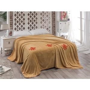 Покрывало Karna вельсофт с вышивкой Damask 200x220 см (2010/CHAR001) покрывало двуспальное karna 200 220 см голубой