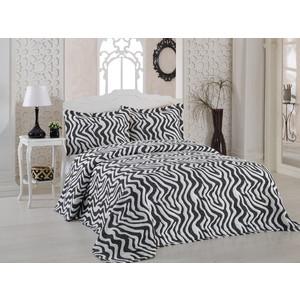 Покрывало Karna жаккард Zebra 240x260 +наволочки 50x70 см (2767/CHAR004) покрывало karna zebra капучино с наволочками 260х240 см