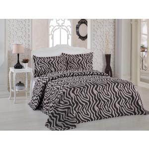 Покрывало Karna жаккард Zebra 240x260 +наволочки 50x70 см (2767/CHAR002) покрывало karna zebra капучино с наволочками 260х240 см