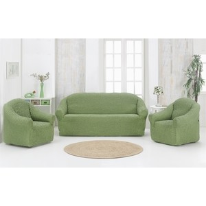 Набор чехлов для мягкой мебели 3 предмета Karna (1780 /CHAR004) набор чехлов для дивана и кресел мартекс с карманами 3 предмета 05 0751 3