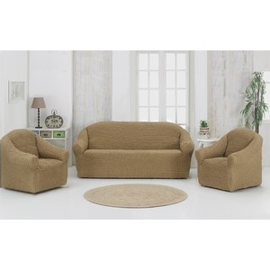 Набор чехлов для мягкой мебели 3 предмета Karna (1780 /CHAR001) набор чехлов для дивана и кресел мартекс с карманами 3 предмета 05 0751 3