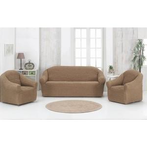 Набор чехлов для мягкой мебели 3 предмета Karna (1780 /CHAR007) набор чехлов для дивана и кресел мартекс с карманами 3 предмета 05 0751 3