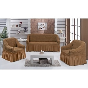 Набор чехлов для мягкой мебели 3 предмета Every (1799/CHAR006) набор чехлов для дивана и кресел мартекс с карманами 3 предмета 05 0751 3