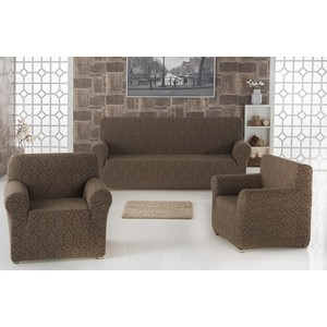 Набор чехлов для мягкой мебели 3 предмета Karna Milano (2683/CHAR005) набор чехлов для дивана и кресел мартекс с карманами 3 предмета 05 0751 3