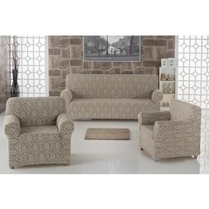 Набор чехлов для мягкой мебели 3 предмета Karna Milano (2683/CHAR002) набор чехлов для дивана и кресел мартекс с карманами 3 предмета 05 0751 3