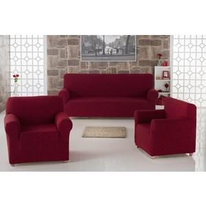 Набор чехлов для мягкой мебели 3 предмета Karna Milano (2683/CHAR003) набор чехлов для дивана и кресел мартекс с карманами 3 предмета 05 0751 3