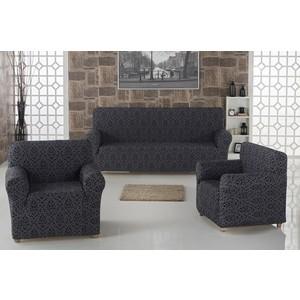 Набор чехлов для мягкой мебели 3 предмета Karna Milano (2683/CHAR001) набор чехлов для дивана и кресел мартекс с карманами 3 предмета 05 0751 3