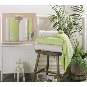 Набор из 4 полотенец Karna Petek (50X100-2/100X150-2) (2421/CHAR006) полотенца karna полотенце petek цвет кремовый синий набор