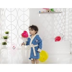 Халат детский Karna велюр с капюшоном Snop 2-3 Лет (2820/CHAR005) 3м 2820