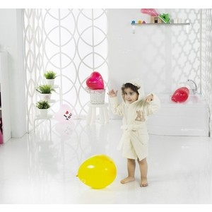 Халат детский Karna велюр с капюшоном Snop 4-5 Лет (2821/CHAR003)
