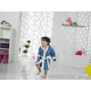 Халат детский Karna велюр с капюшоном Snop 4-5 Лет (2821/CHAR005)