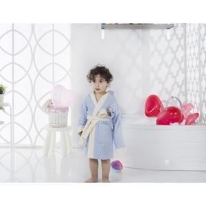 Халат детский Karna велюр с капюшоном Snop -7 (2822/CHAR002)