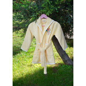 Халат детский Pupilla бамбук с вышивкой Kids желтый (2943/CHAR002) dior kids комбинезон с вышивкой