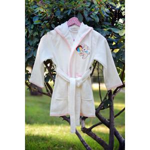 Халат детский Pupilla бамбук с вышивкой Kids крем девочка (2947/CHAR003) набор кухонных полотенец pupilla miranda 3d бамбук 30x50 3 штуки 8679