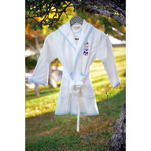Халат детский Pupilla бамбук с вышивкой Kids крем мальчик (2948/CHAR002) 3m 2948