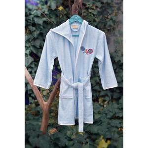 Халат детский Pupilla бамбук с вышивкой Young голубой (2952/CHAR002) мужской халат с вышивкой инициалы белый