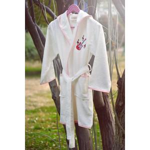 Халат детский Pupilla бамбук с вышивкой Young крем девочка (2955/CHAR001) мужской халат с вышивкой инициалы белый