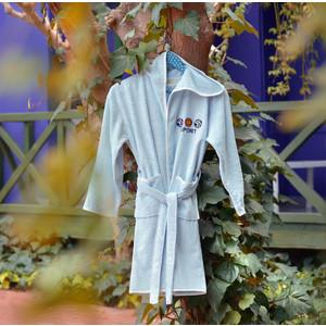 Халат детский Pupilla бамбук с вышивкой Young ментол (2957/CHAR002) ментол penelopa бамбук 50х90 70х130 в коробке набор полотенец фиеста