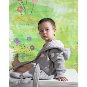 Халат детский Karna махровый с капюшоном Teeny серый (912/5/CHAR001) kidboo kidboo халат little pilot махровый белый