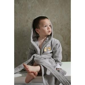 Халат детский Karna махровый с капюшоном Teeny серый (912/5/CHAR002) kidboo kidboo халат little pilot махровый белый