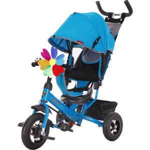 Велосипед 3-х колесный Moby Kids Comfort 10x8 AIR синий 641052 велосипед 3 х колесный moby kids comfort