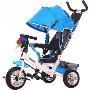 Велосипед 3-х колесный Moby Kids Comfort 10x8 EVA синий 641048 велосипед 3 х колесный moby kids comfort
