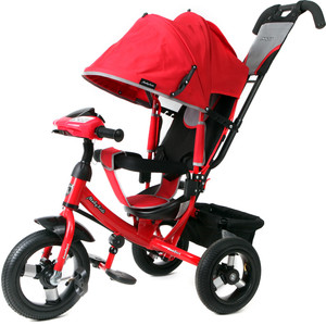 Велосипед 3-х колесный Moby Kids Comfort 12x10 AIR Car1 красный 641084