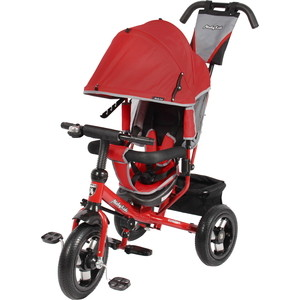 Велосипед 3-х колесный Moby Kids Comfort 12x10 AIR красный 641053 велосипед 3 х колесный moby kids comfort