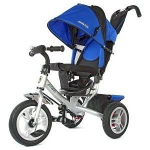 Велосипед 3-х колесный Moby Kids Comfort-2 12/10 синий 635204 велосипед 3 х колесный moby kids comfort