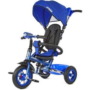 Велосипед 3-х колесный Moby Kids Junior-2 светомузыкальная панель синий T300-2Blue