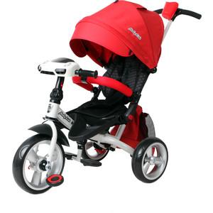 Велосипед 3-х колесный Moby Kids с разворотным сиденьем Leader 360° 12x10 EVA Car красный 641079
