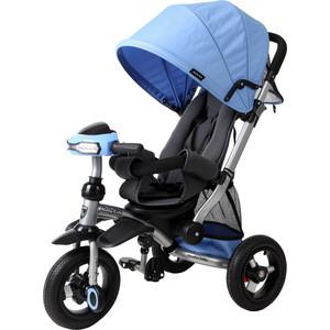 Велосипед 3-х колесный Moby Kids Велосипед-коляска 3кол Stroller trike 10x10 AIR Car синий 641074