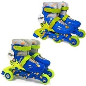 Роликовые коньки Moby Kids 2 в 1 р 26-29 сине-зеленый 641003